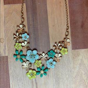 Francesca's Flower Statement Necklace